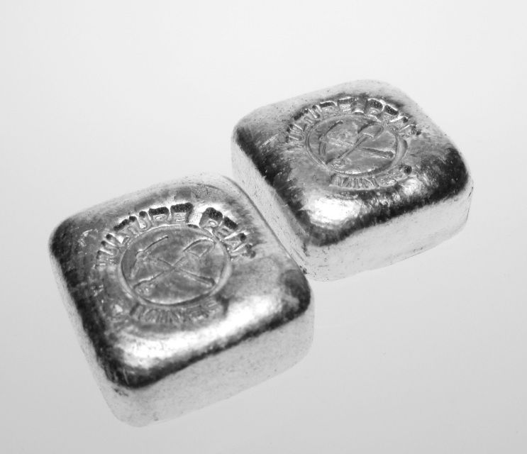 1 Oz Hand Poured Silver Square Hand Poured Silver Bars From Vulture Peak Silver Bullion Silver Bars Silver