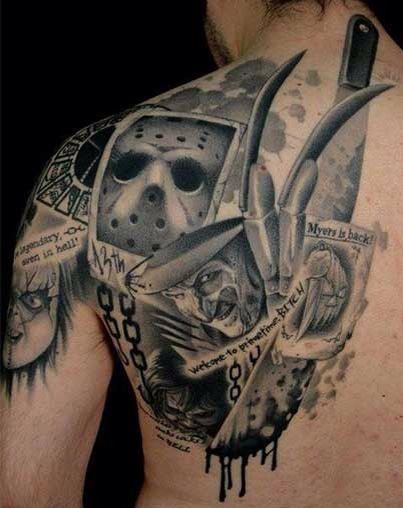 Horror Tattoo Movie Tattoos Horror Tattoo Movie Tattoo