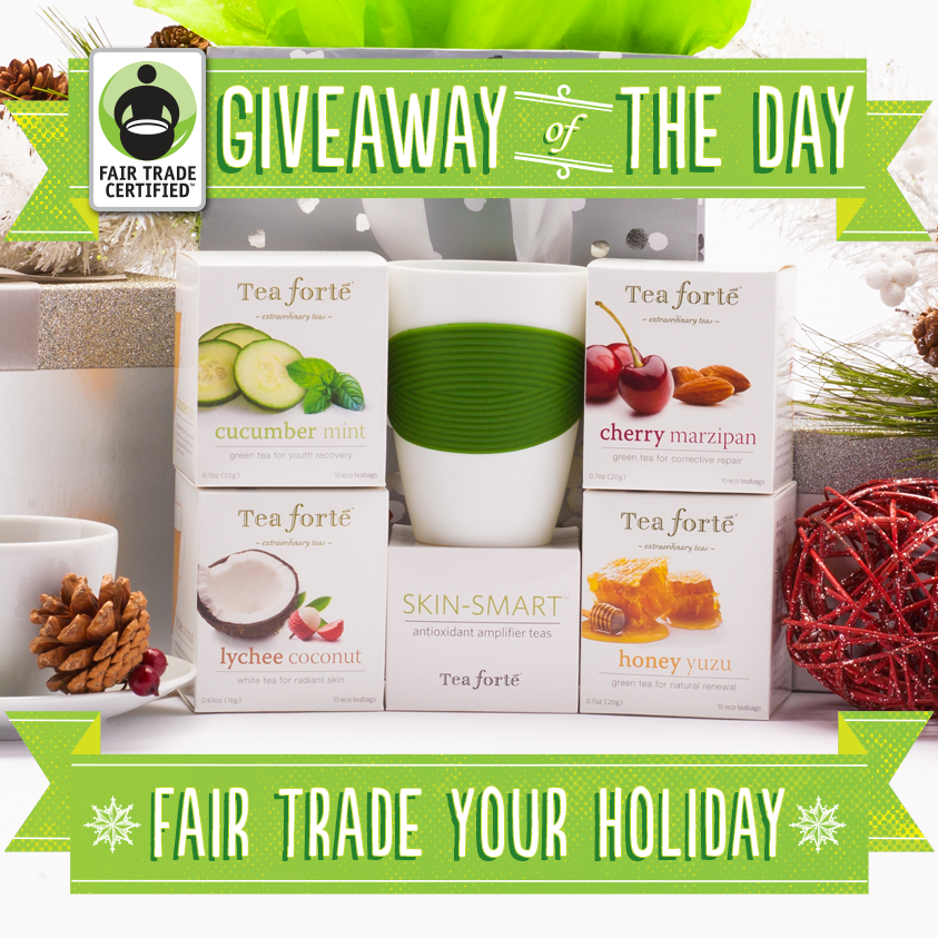 Giveaway Of The Day Tea Forte Skin Smart Gift Set Fair Trade