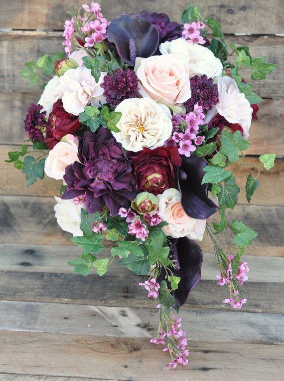 Cascade Wedding Flowers, Wedding Bouquet, Keepsake Bouquet, Bridal ...