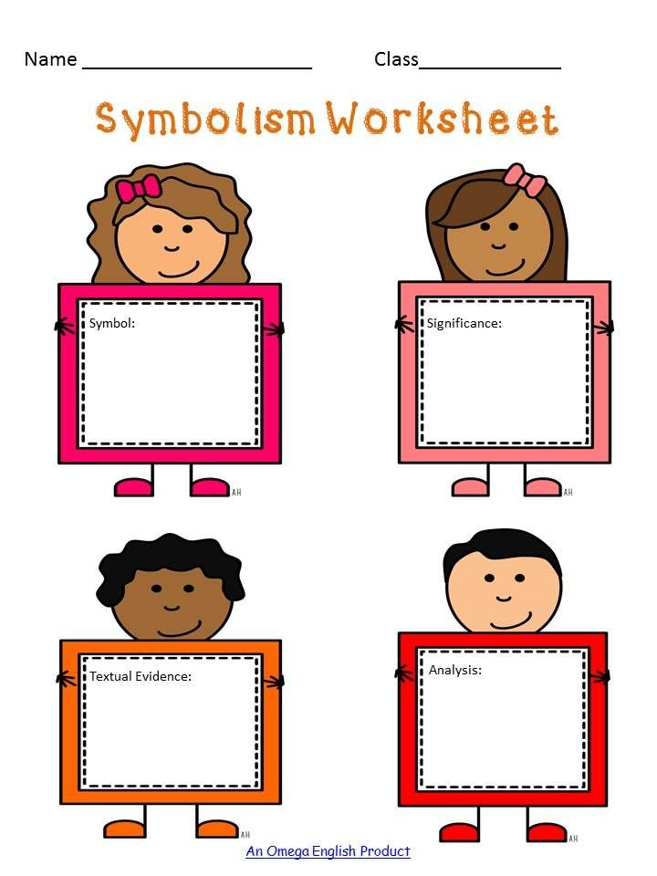 Symbolism Graphic Organizers And Handout For Elementary Middle