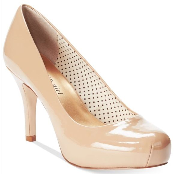 Madden girl Nude platform heel. Madden Girl nude platform heel.  Worn once, in great condition except for small rip on bottom of left heel as seen in last picture. Madden Girl Shoes Heels