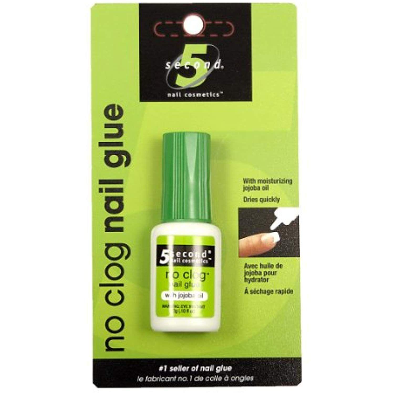 5 Second Nail Noclog Nail Glue, 3Gram (Pack of 4