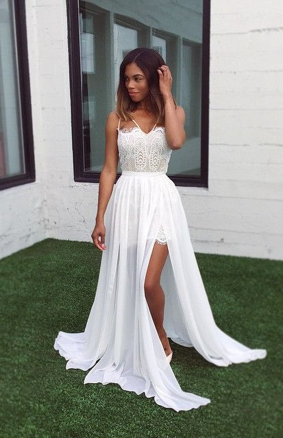 prom dresses 2017, elegant white party dresses with appliques ...