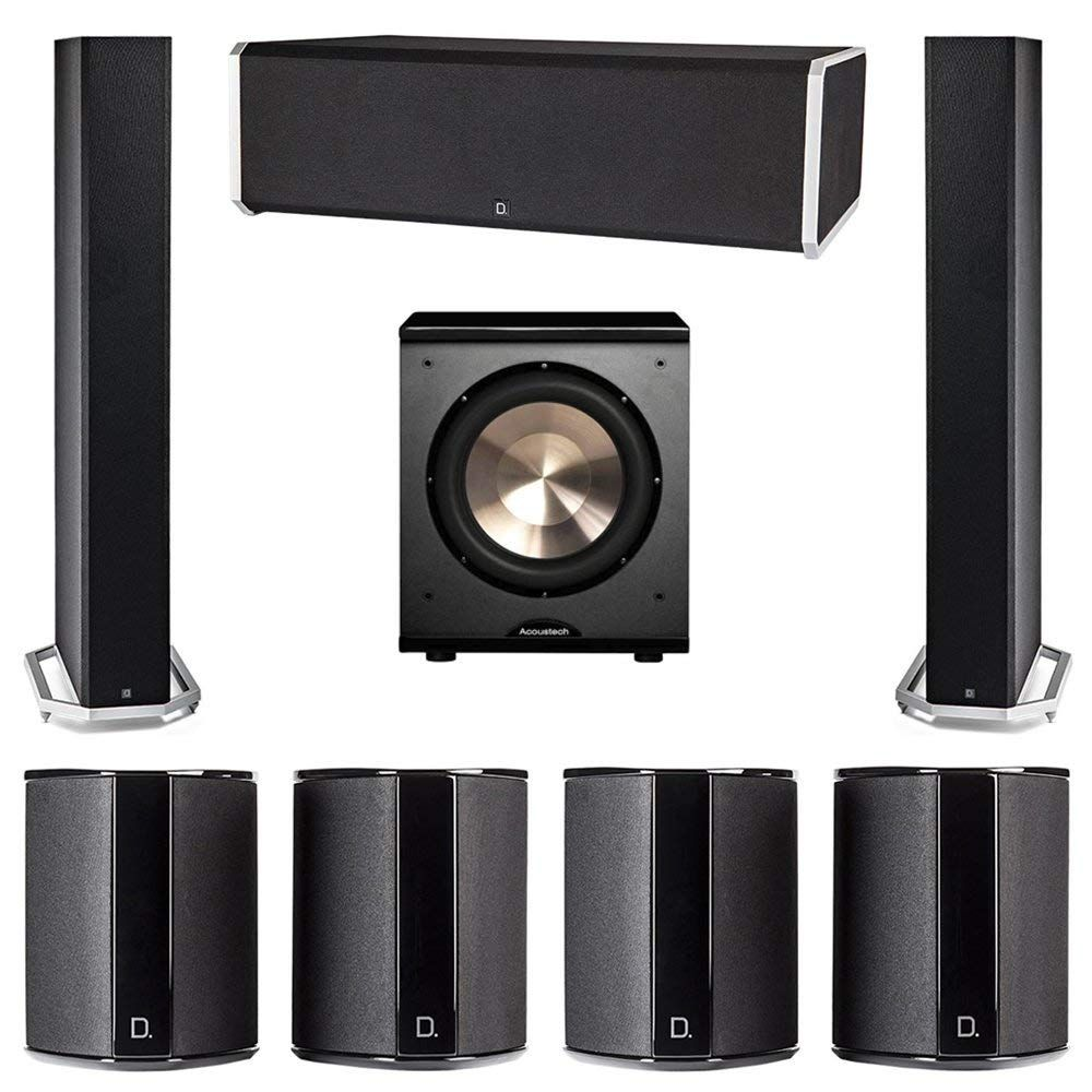 Definitive Technology 7 1 System With 2 Bp9060 Tower Speakers Home Theater System Home Theatre Sound Wireless Home Theater