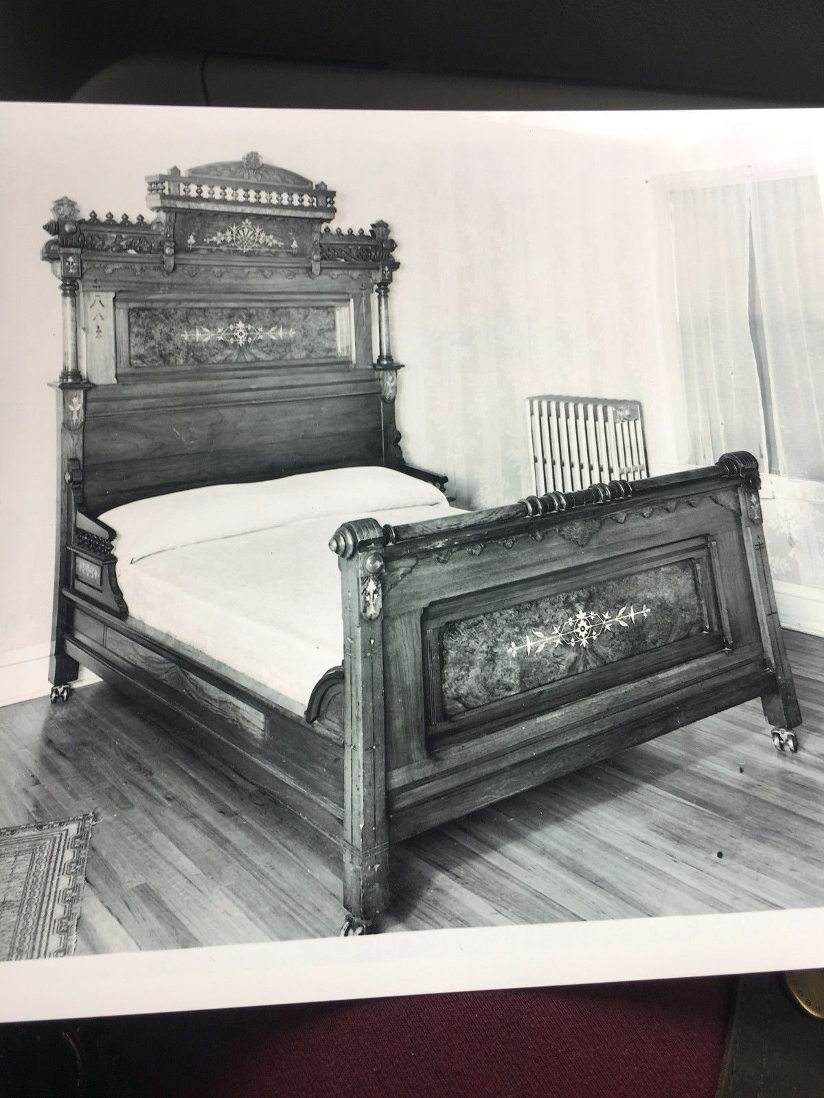 Antique Victorian Black Walnut 3Piece Bedroom Set 1780