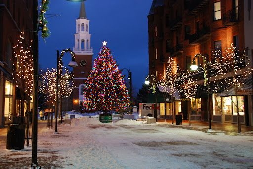 Christmas On Church Street In Burlington Vt