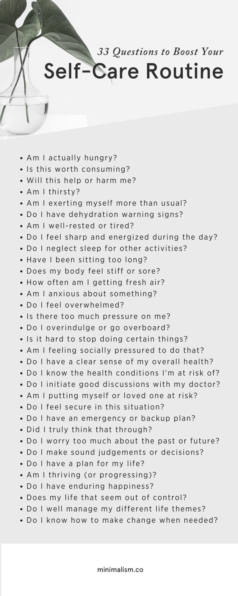 33 Self-Care Questions