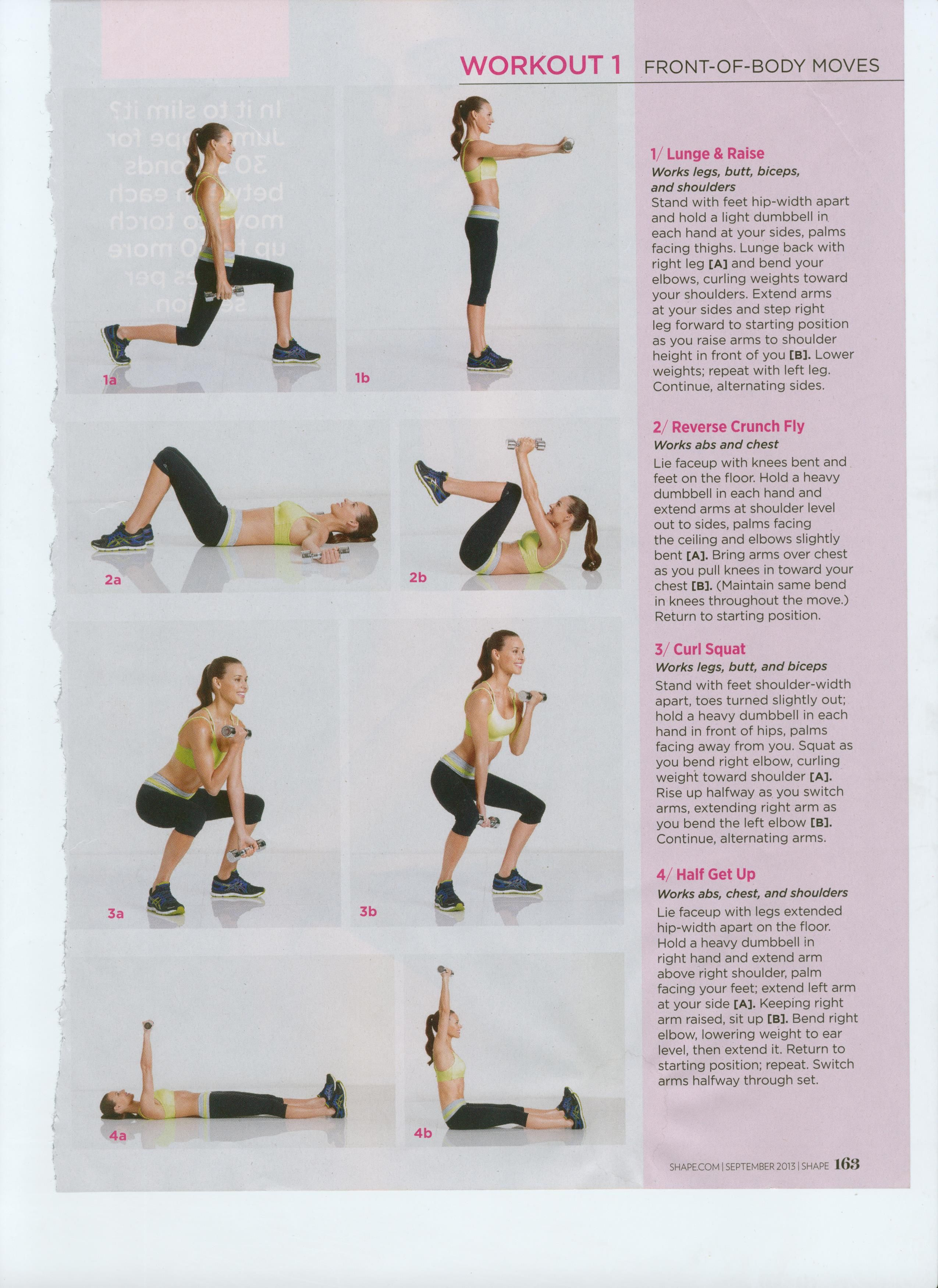 Get 360 Sexy - Workout #1 Shape Magazine - perform each