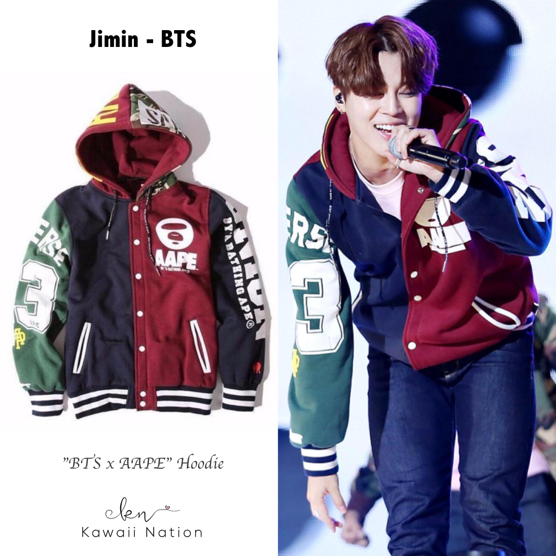 553735a8b BTS Fashion Inspired Outfits V Tae-hyung Jungkook RM Rap Monsta Jin Jimin  JHope Suga Kawaii Nation celebs kpop tshirt hoodie idol bt21 cute fashion  harajuku