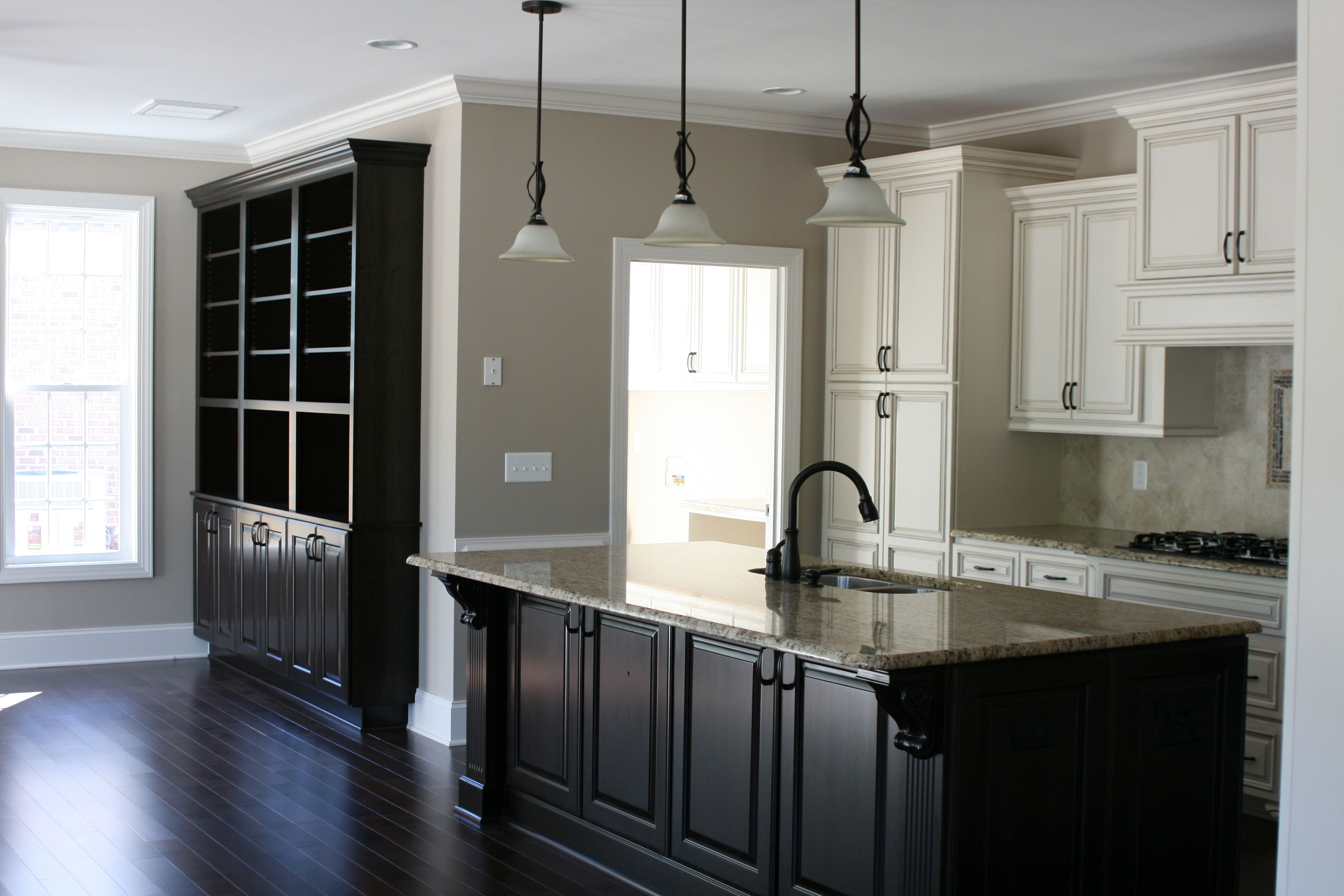 A Beautiful Kitchen With Contrasting Finishes I Love The