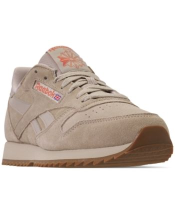 reebok men's cl leather mu casual sneakers from finish