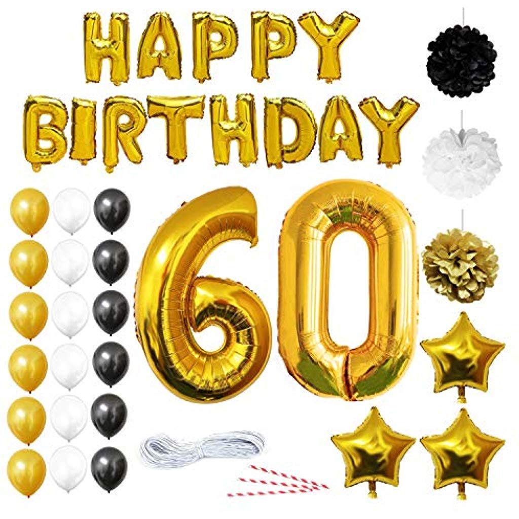 Auguri Anniversario Matrimonio 60 Anni.60 Anni Compleanno Buon Compleanno Bandiera Decorazioni