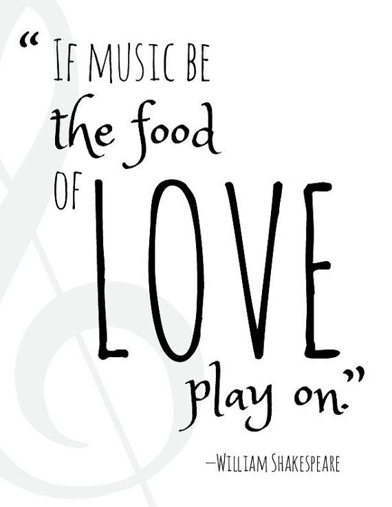 If Music Be The Food Of Love Play On Shakespeare Quote