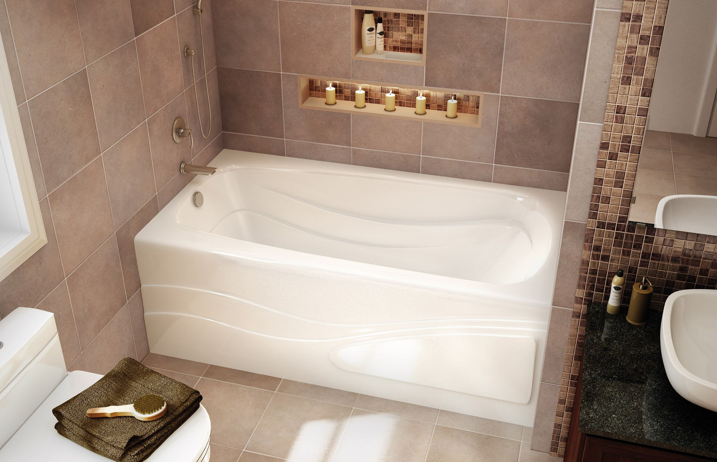 TENDERNESS Alcove bathtub - MAAX Professional | Bathroom remodel ...