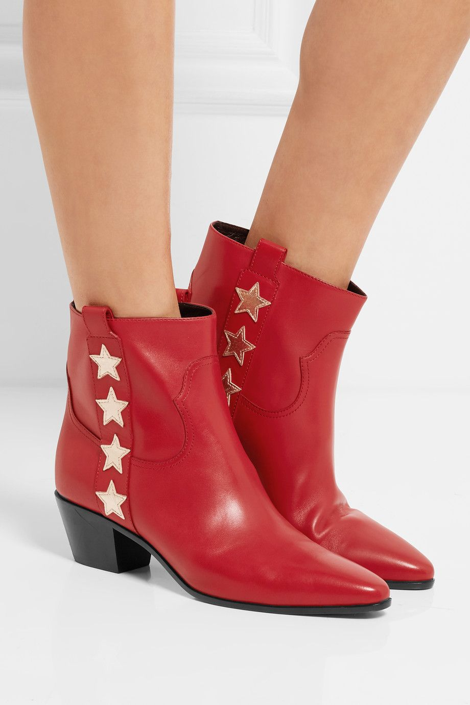 4c381335e3a3 Heel measures approximately 40mm  1.5 inches Red leather Pull on Made in  Italy