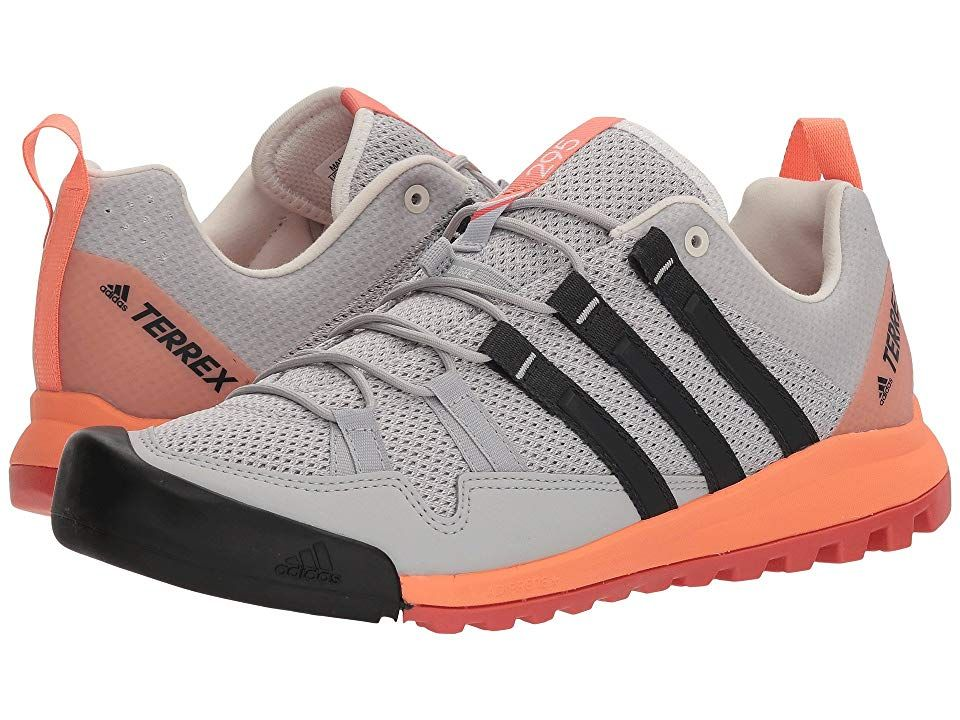 26e5b067b5f adidas Outdoor Terrex Solo Women s Shoes Grey Two Carbon Chalk Coral ...