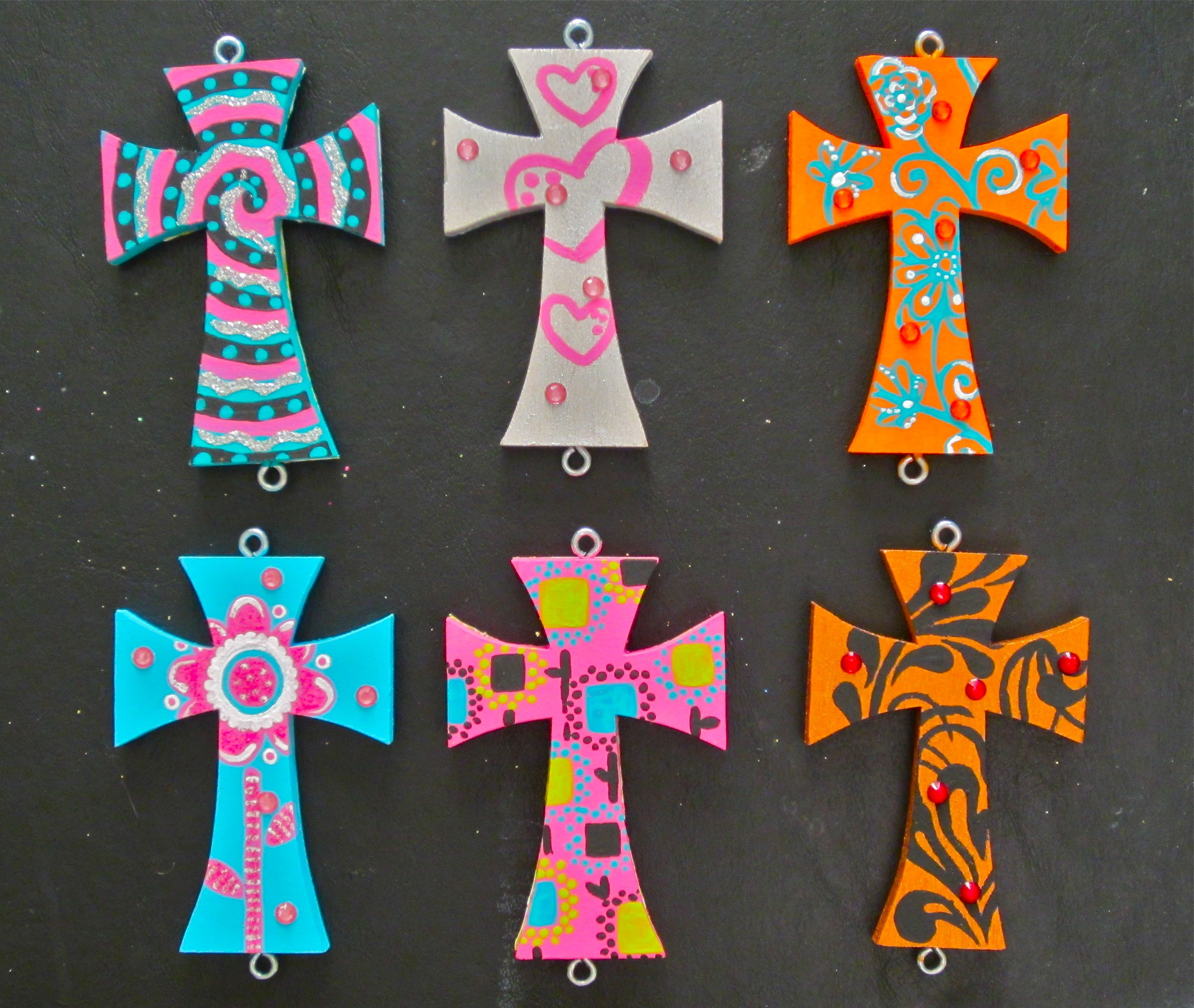 Large Painted Wood Crosses Operation Mend And Replace Cross