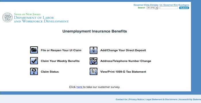 Nj Unemployment Login Njuifile Net Online Page Insurance