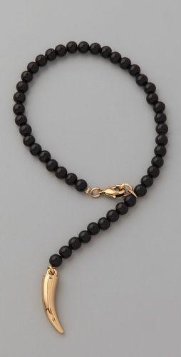 CC SKYE Lucky Horn Rosary Bracelet-shopbop.com