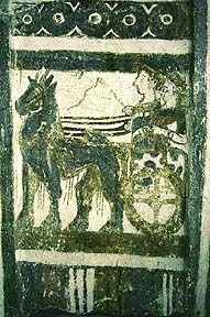 Minoan Painting Sarcophagus detail (the entire picture is posted on page