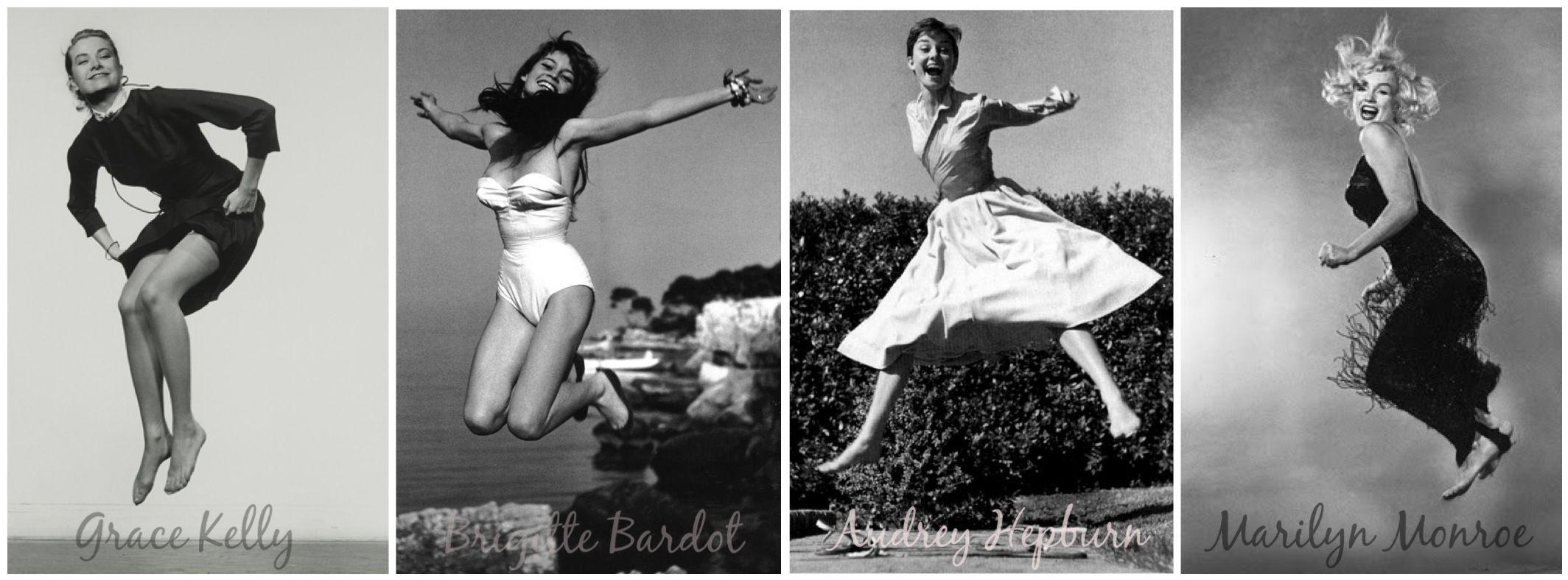 Grace Kelly, Marilyn Monroe, Brigitte Bardot & Audrey