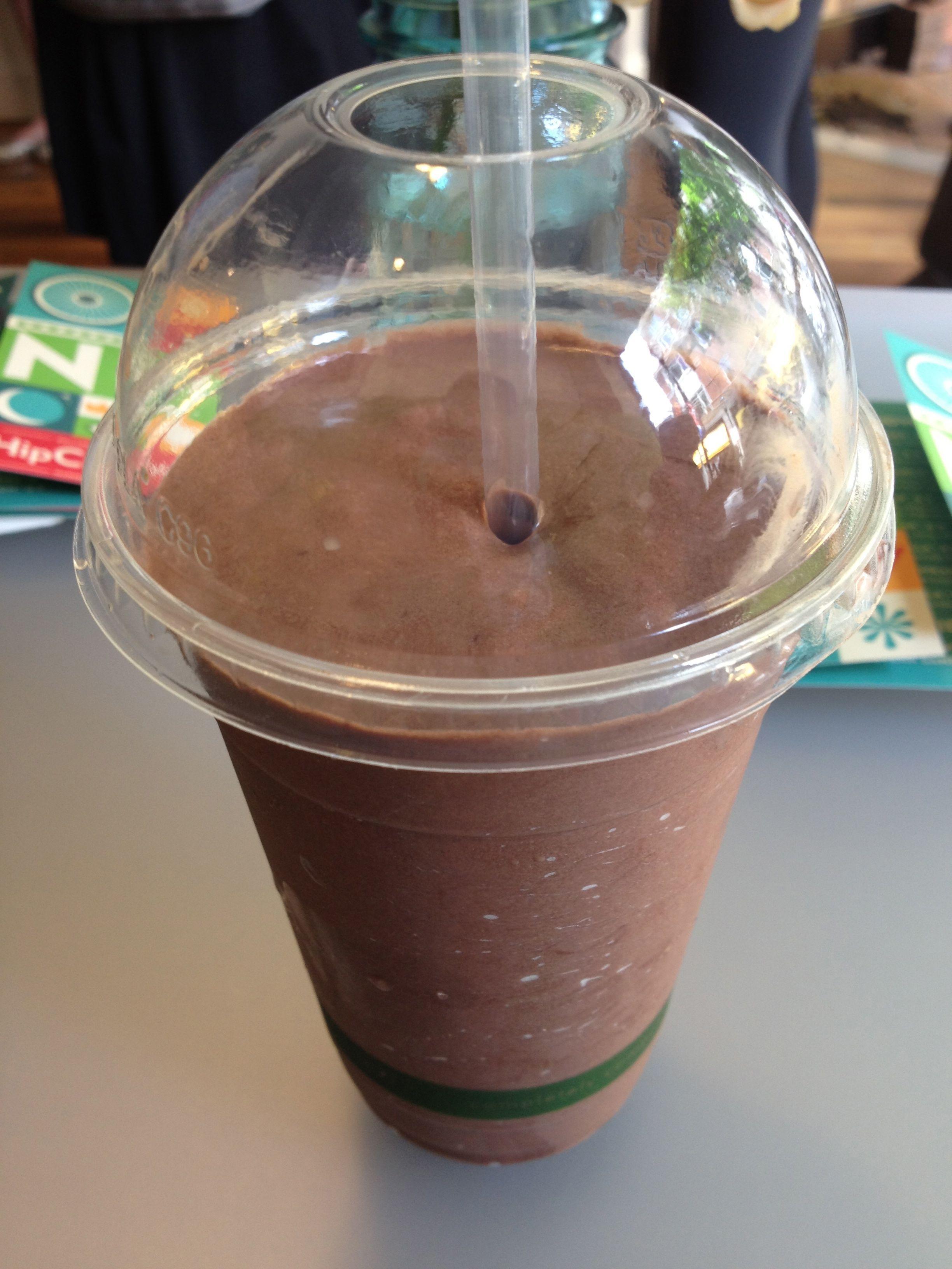 The chocolate shake is delightful and tastes like chocolate ...