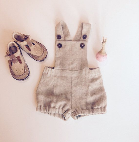 Baby boy overalls Linen dungarees Baby boy linen shorts Baby boy ...