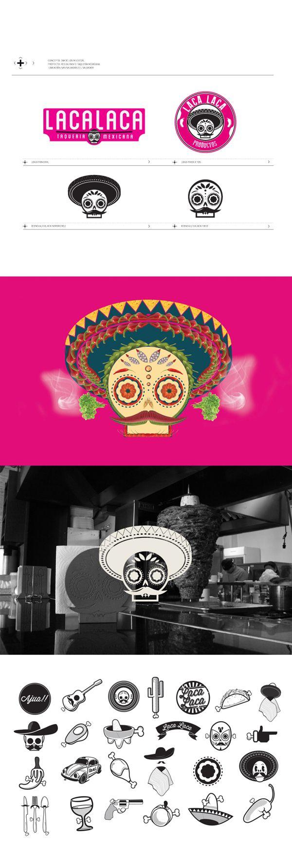 LACALACA  TAQUERA MEXICANA on Behance  Mexican Design