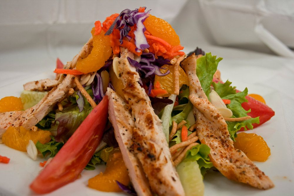 Light & fresh #Asian #Chicken salad with purple cabbage and #mandarin orange