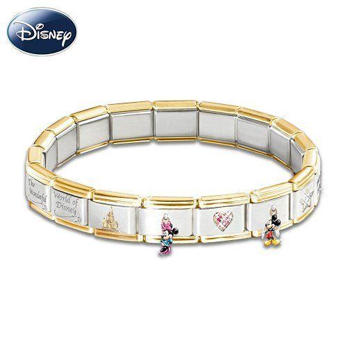 Wonderful World Of Disney Italian Charm Bracelet Jewelry Gift By The Bradford Exchange 119 00