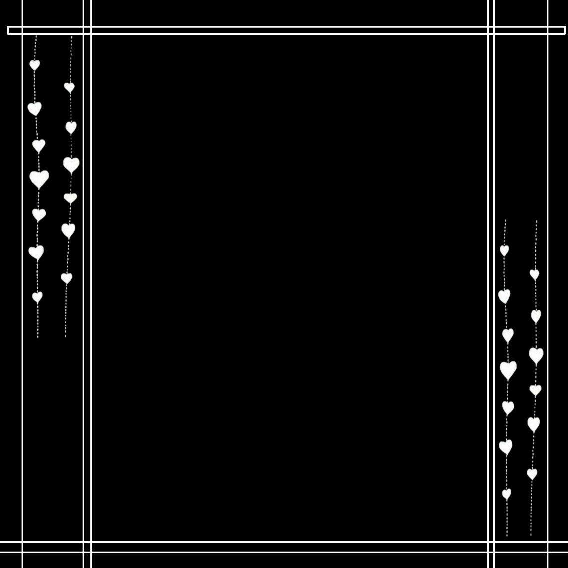 White Line Border Overlays Picsart Overlays Instagram Picsart Png