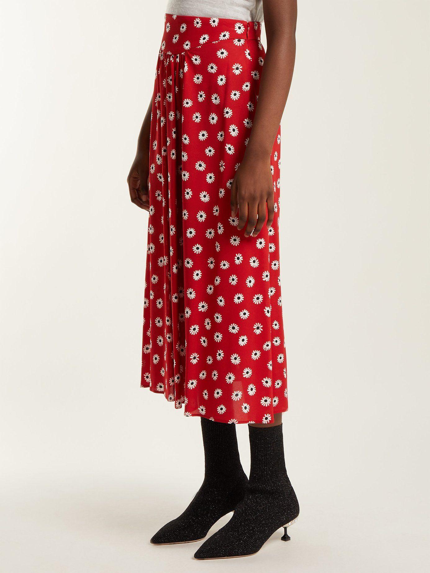 063dd97b1 Daisy-print midi skirt   Miu Miu   MATCHESFASHION.COM US   skirts ...