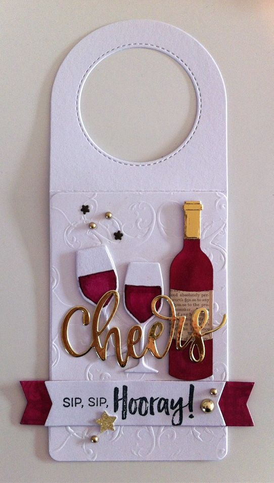 Card tag bottle glass glasses wine bottle tag MFT Wine tag Die - wine tag template