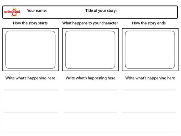 Animation Storyboard Template   Free Word Excel Pdf Ppt