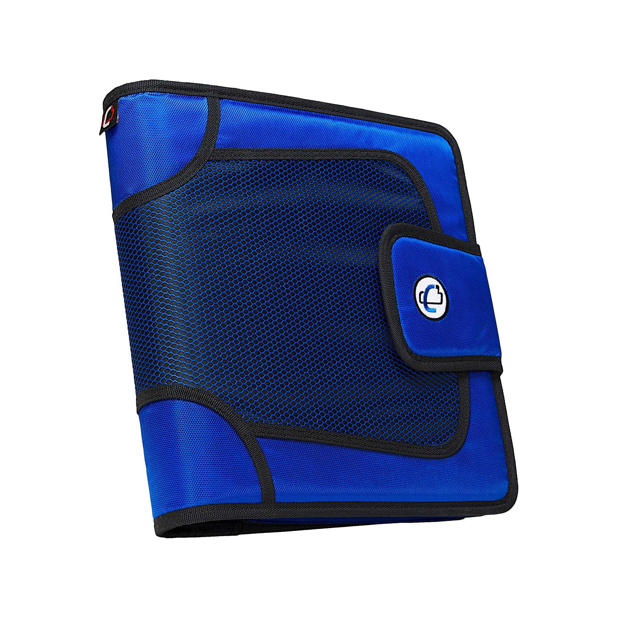 Case•it 2 3 Ring Binder With Tabbed Closer Blue