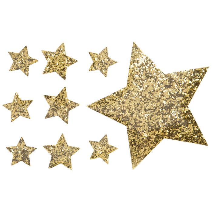 Star Glitter Iron On Appliques Hobby Lobby 1867969 Iron On Applique Gold Glitter Stars Scrapbook Paper Crafts