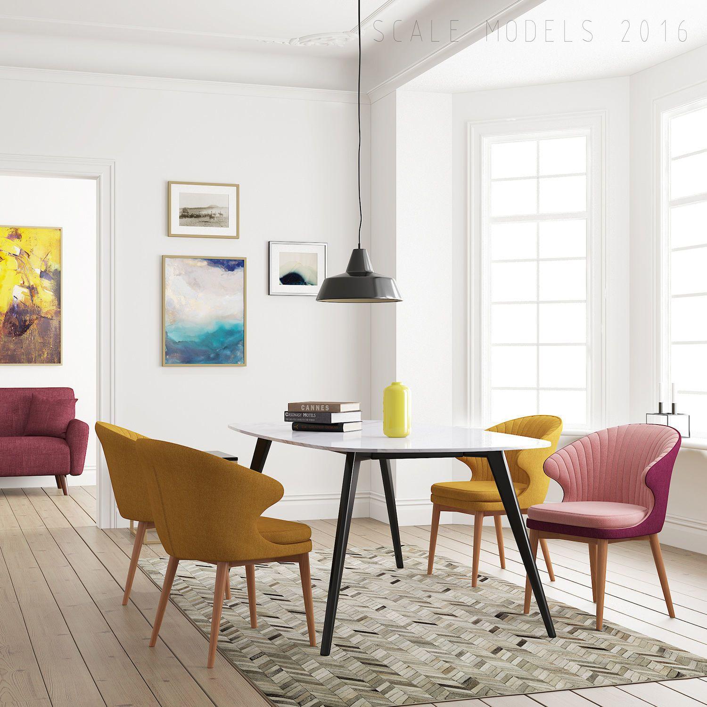 Dining Room 123 Interior 3d Model Max Fbx 1