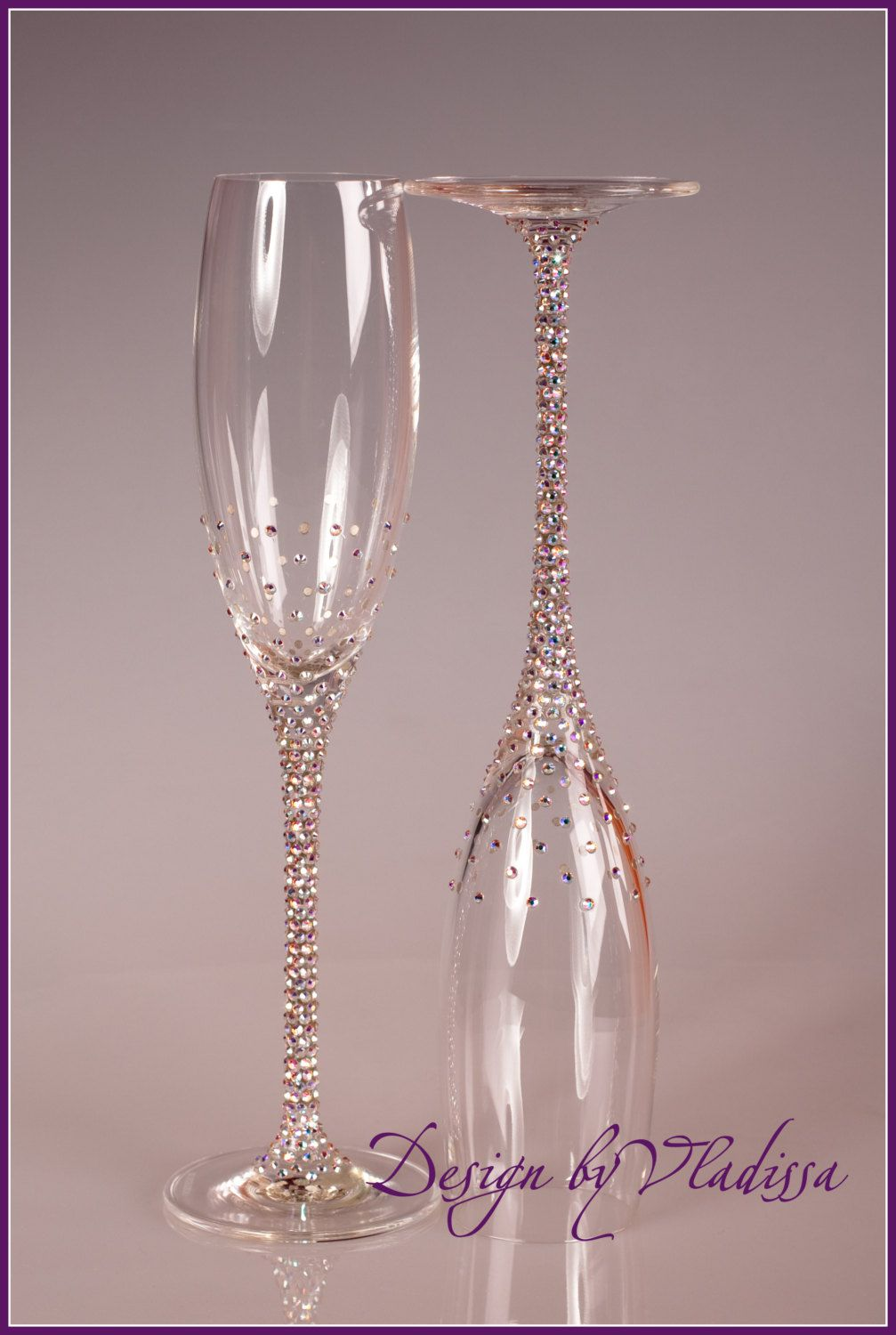 Swarovski Champagne Flutes I Feel Like I Could Do This Myself
