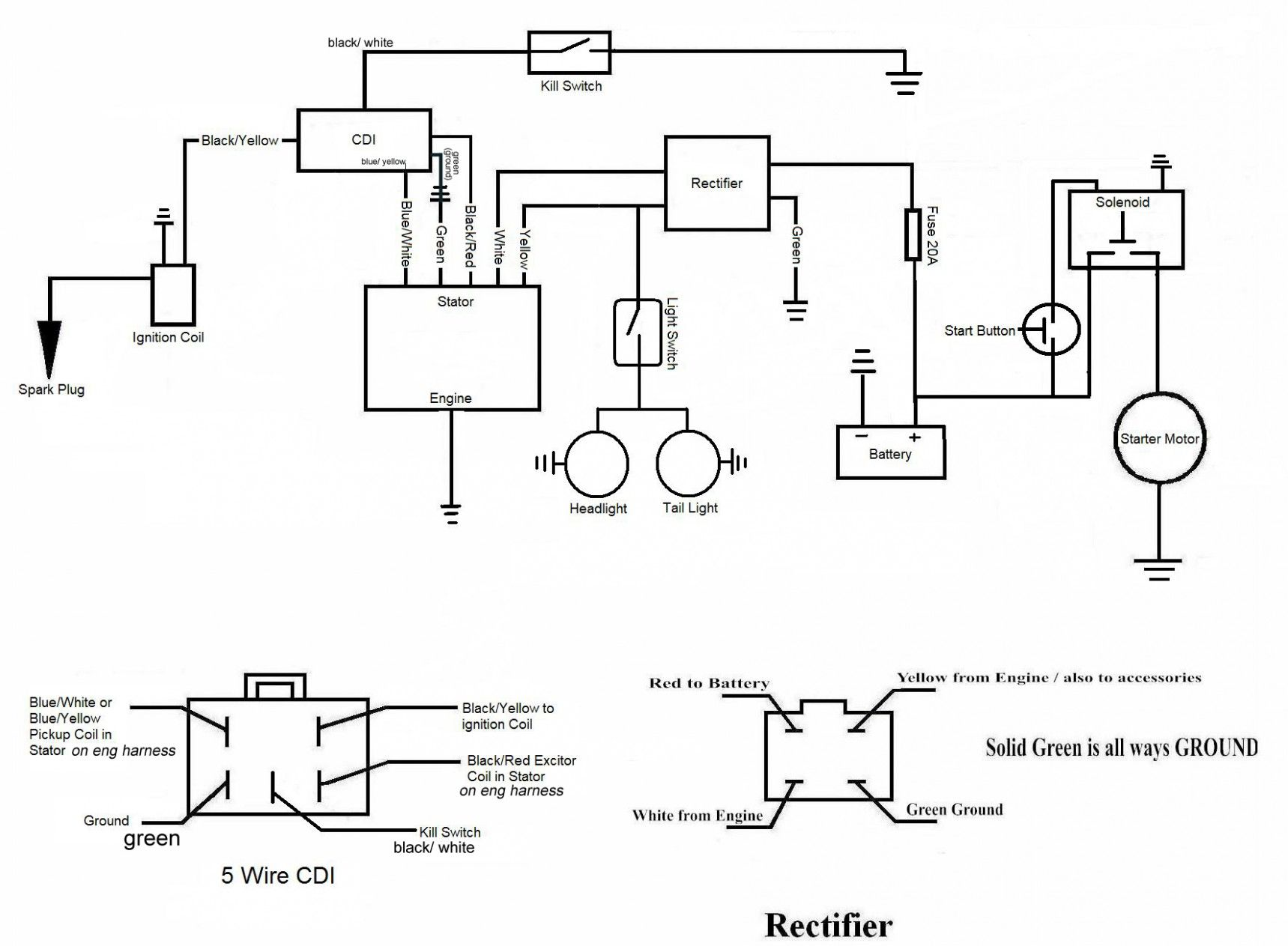 Chinese 6cc Engine Diagram Specification