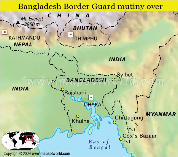Map of bangladesh and bordering countries bangladesh east of map of bangladesh and bordering countries bangladesh east of india on the bay of gumiabroncs Gallery