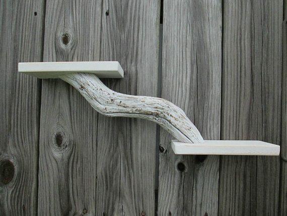 Driftwood Shelf Rustic Wood Shelf Beach Decor Coastal Home Wall