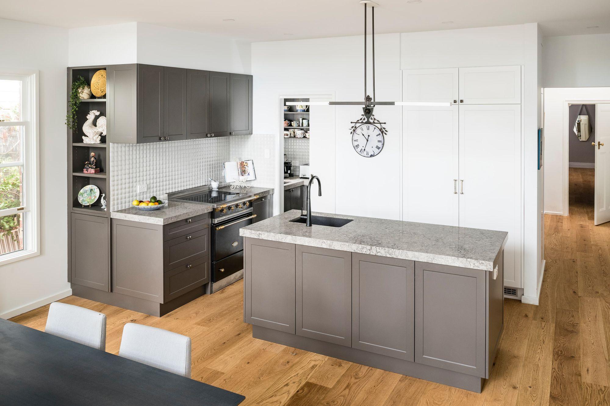 Elegant kitchen design with Caesarstone® Turbine Grey™. Let's Talk ...
