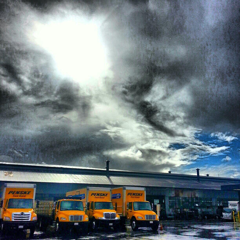 Fantastic Clouds And Light As Penske Truck