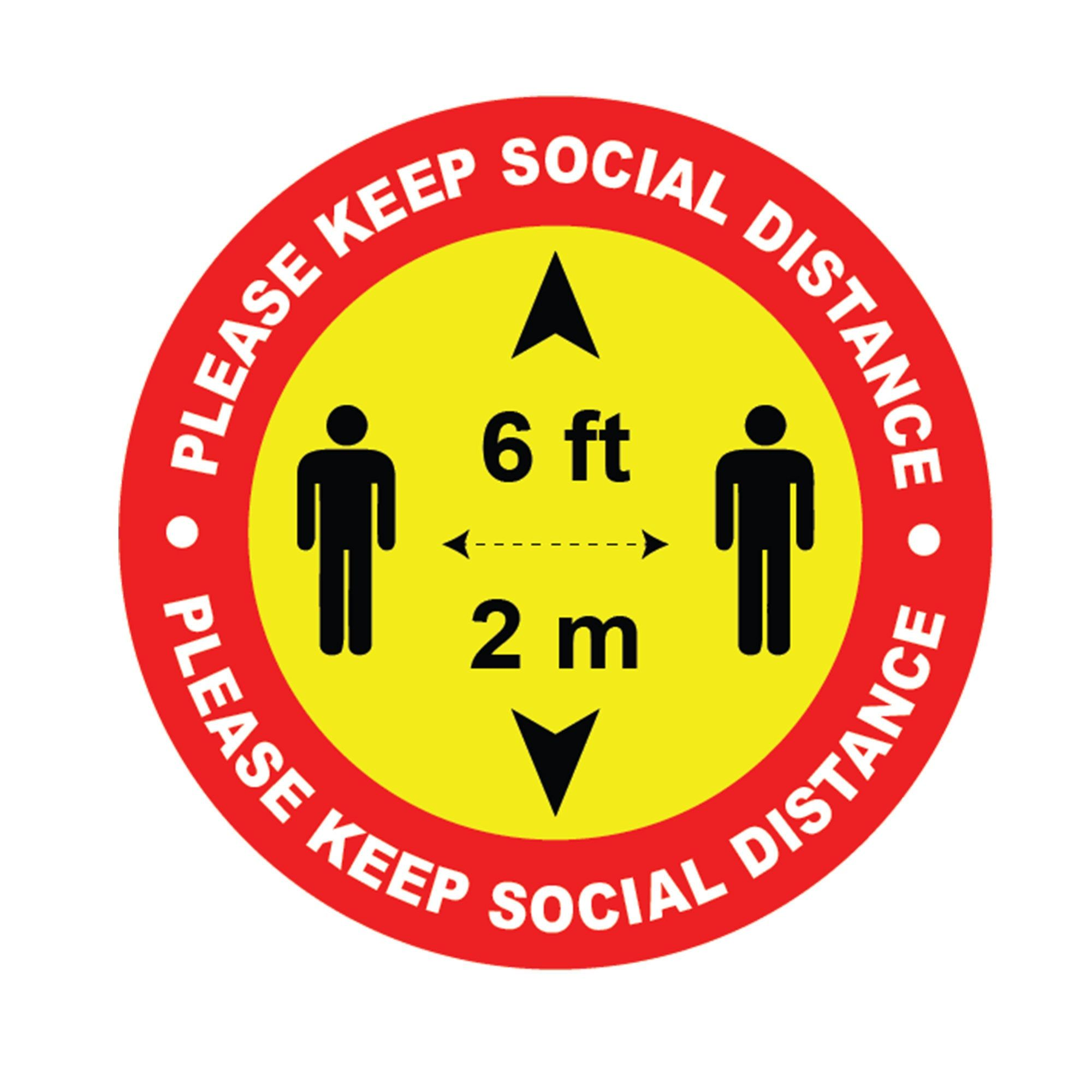 Social distancing stickers Social distance Vinyl sticker