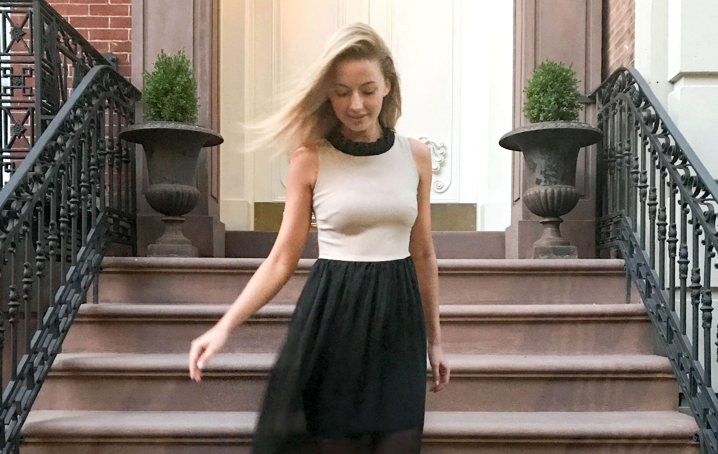 The camilyn beth rainia dress in beige nyc styled street style