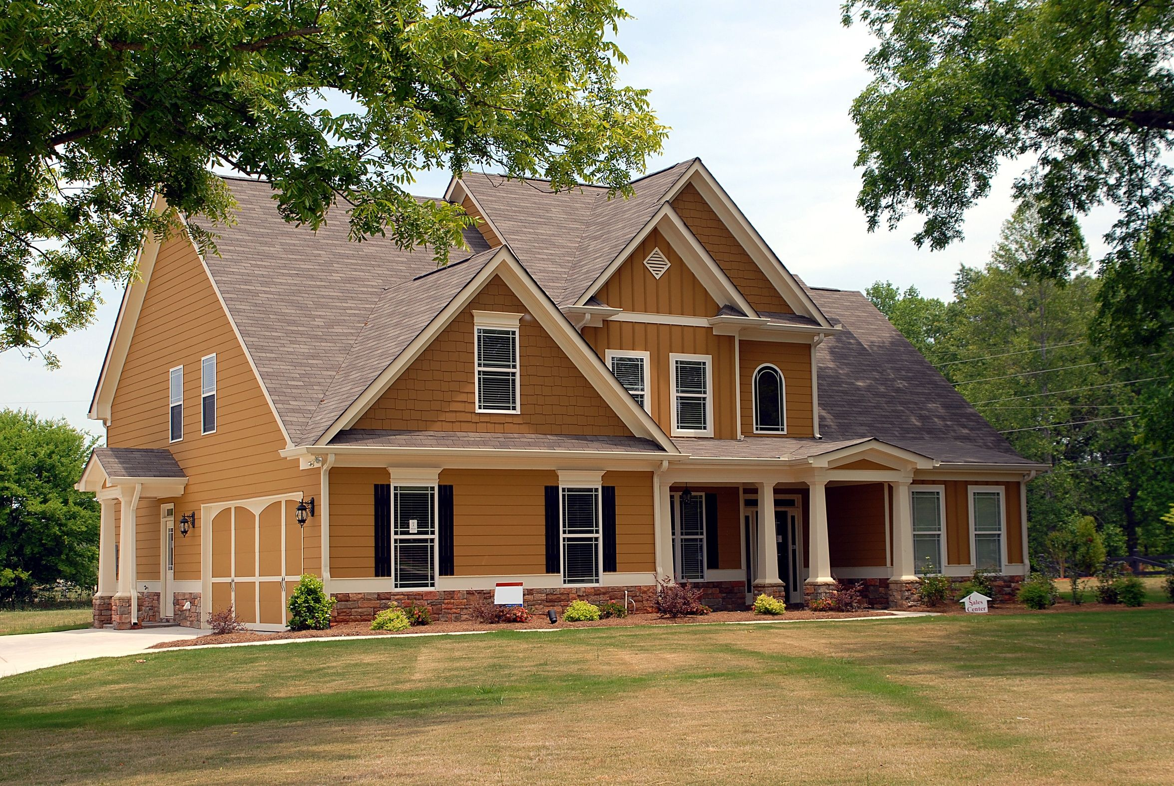 Brown exterior house paint colors looking for professional - Painting house exterior ideas set ...