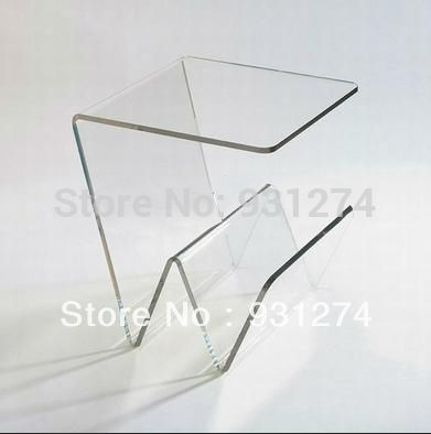 ONE LUX Modern Acrylic Coffee Table With Magazine Racks ,Crystal Tea Table  Home Furniture, Leisure Patio Desk For Garden Great Ideas