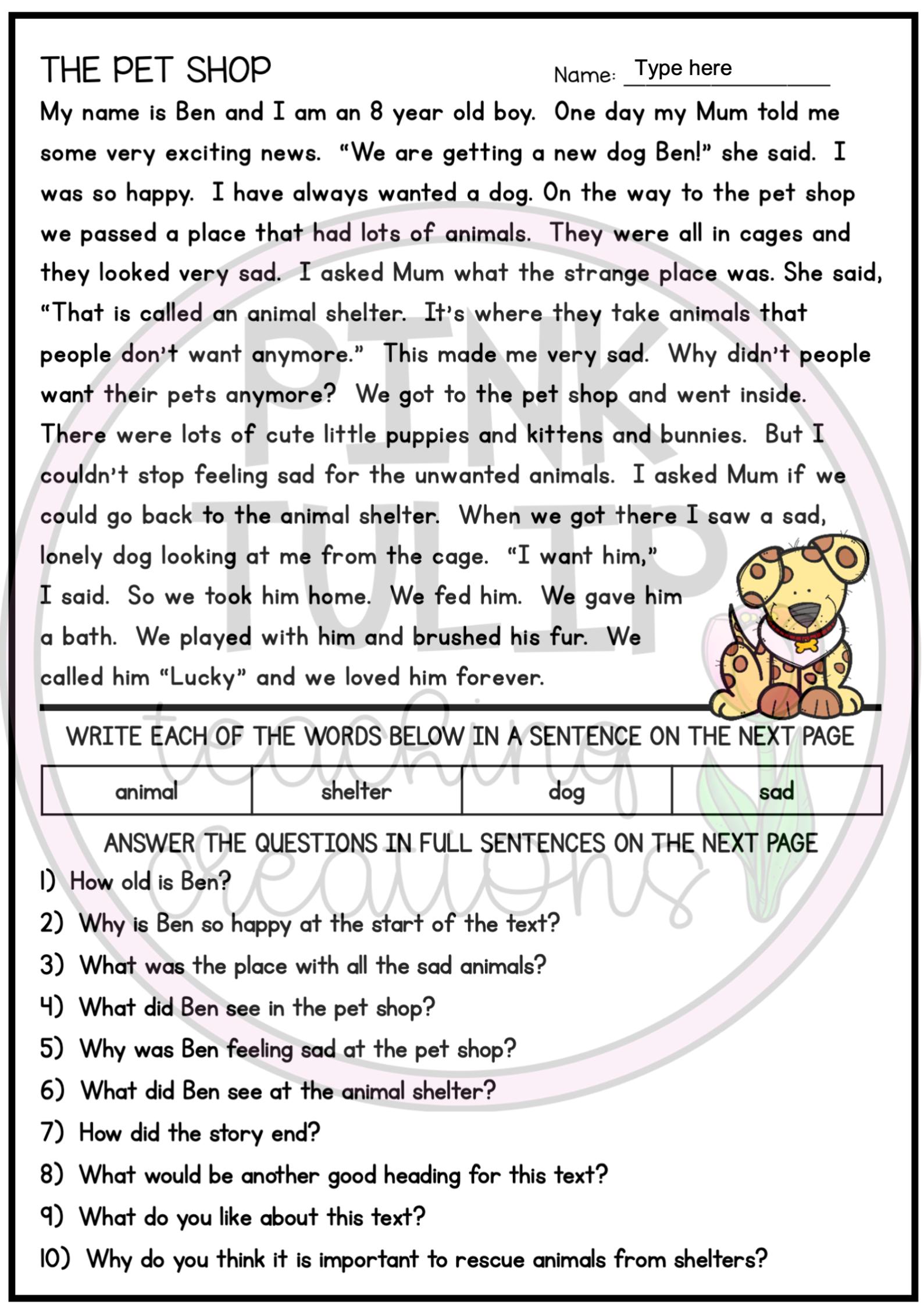 10 Page Reading Comprehension Worksheet Pack Google Slides Distance Le Reading Comprehension Worksheets Reading Comprehension Texts Comprehension Worksheets [ 2249 x 1589 Pixel ]