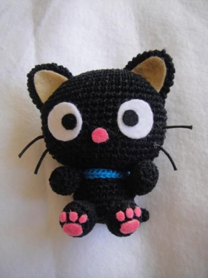 patrón amigurumi chococat - gato kitty pdf lana,hilo,fieltro ...